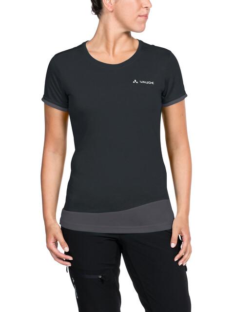 VAUDE Sveit - Camiseta manga corta Mujer - negro